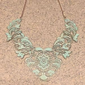 Jewelry - Blue & Gold Necklace